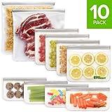 Enivrogen 10 Pack Reusable Storage Bags (2 Reusable Gallon Bags, 4...