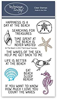 At the Beach Clear Stamps - Clear Rubber Stamps | Photopolymer Stamps | Card Making Supplies | Scrapbooking Stamps
