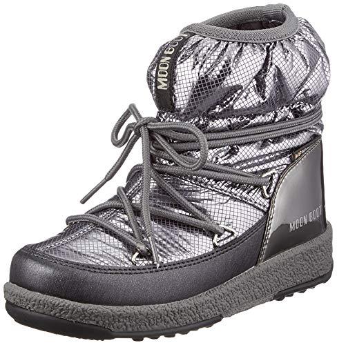 Moon Boot Damen Mb Jrgirl Low Nylon Premium Wp Schneeschuh, Metal Gun, 38 EU