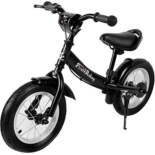 Deuba Vélo Street Enfant Noir Selle et Guidon réglable Bicyclette Pirate