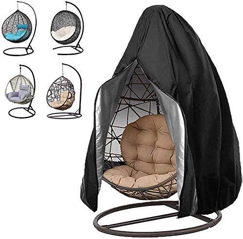 KDR Funda para silla colgante, impermeable, antipolvo, para muebles de jardín con cremallera, cubierta para silla de patio con bolsa de almacenamiento para patio, jardín, columpio (230x200cm)