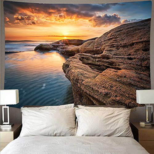 Paisaje marino arrecife tapiz arte psicodélico colgante de pared toalla de playa mandala manta fina tapiz tela de fondo A5 180x230cm