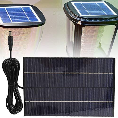 minifinker Panel Solar de silicio policristalino 4.2W 18V Panel de energía Solar portátil para Luces del hogar para semáforos para Luces de Emergencia