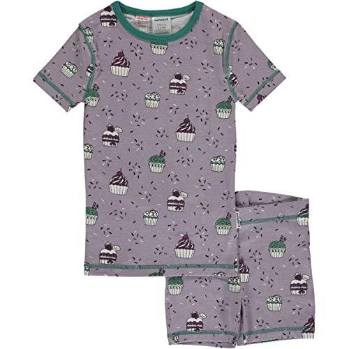 Maxomorra Mädchen Pyjama Kurzarm Cupcake (110/116)