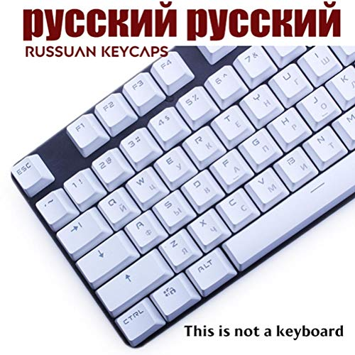104 Clave PBT Rusia / Francia / español / coreano Keycaps MX-yourself reemplazo de interruptores para el teclado Logitech G502 cereza MX mecánica,France ABS Negro