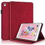 Succtop iPad 2018 6. Generation Hülle, iPad 2017 5. Generation Hülle, iPad Air/Air 2 PU Lederhülle mit Auto Schlaf/Wach Funktion für Apple iPad 9.7 Zoll 2017/2018 iPad Air/iPad Air 2 Rot