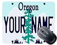 BRGiftShopは、独自のオレゴン州ライセンスプレートスクエアマウスパッドをパーソナライズします