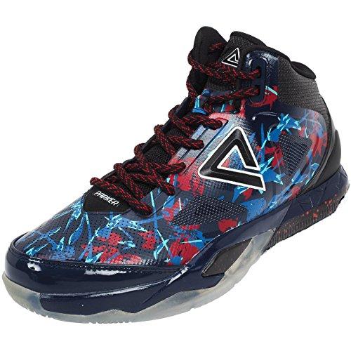 Peak – TP3 – Sportschuhe für Erwachsene und Unisex – Basketballschuhe mit hoher Technologie für Wettkämpfe – Sneakers 4. Modell Signature Tony Parker – Farbe Weiß
