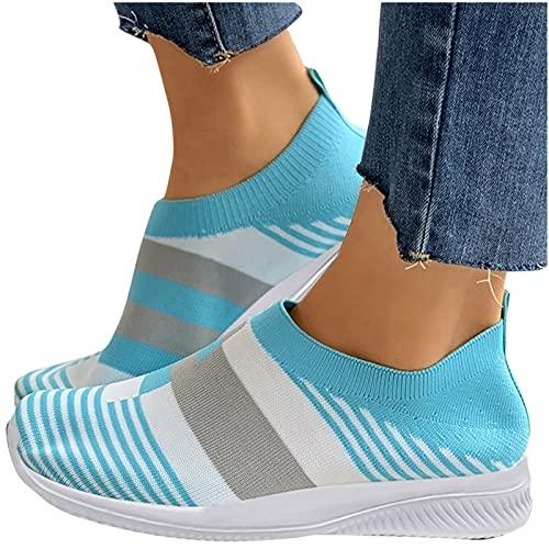 Dasongff Damen Schuhe Outdoor Sneakers Freizeit Slip On Bequeme Sohlen Sports Atmungsaktiv Mesh Schuhe Fitness Turnschuhe Sommer Damenschuhe Laufschuhe Wanderschuhe Sportschuhe