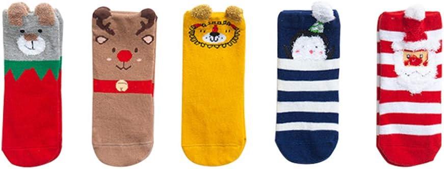 Max 57% OFF BESTOYARD 5 5 popular Pairs Baby Pure Cotton Santa Cl Medium- Length Socks