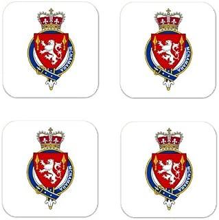 MyHeritageWear.com Mcnamara Ireland Family Crest Square Coasters Coat of Arms Coasters - Set of 4