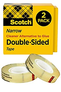 Scotch Double Sided Tape 1/2 in x 500 in Permanent 2 Boxes/Pack  665-2