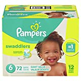 Diapers Size 6, 72 Count - Pampers Swaddlers Disposable Baby Diapers, Giant Pack
