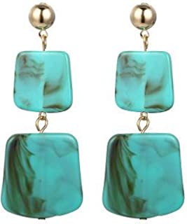 BGTKD Earrings Acrylic Earrings Geometric For Women Earings Jewelry