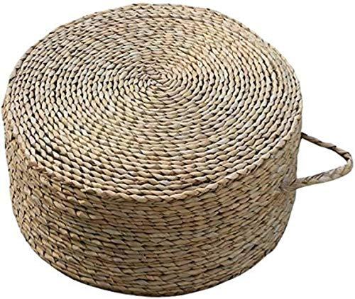 Silla Paja futón/Taburete Redondo, Estilo rústico Zen cojín Simple Ceremonia del té GrasStool, Conveniente for la Sala de Estar, casa de té, Patio (40 × 40 × 20 cm)