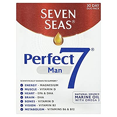 Seven Seas Perfect7 Man, Multivitamin and Mineral Tablet plus Omega-3 capsule, Duo Pack, 30 day supply