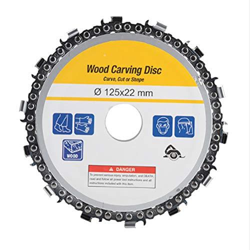 1 pieza 14 dientes Circular Saw Blade Disc 5 pulgadas Circular Saw Blades para Shaping Cutting 5 Amoladoras angulares Corte Madera Metal Aluminio