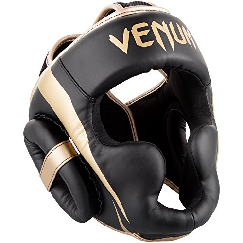 Venum Elite Headgear - Black/Gold, One Size