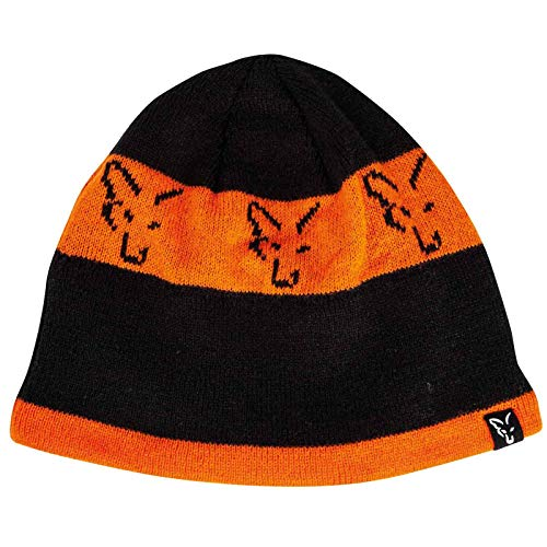 Fox Black Orange Beanie CPR993 Beanie Hat Wintermütze Mütze