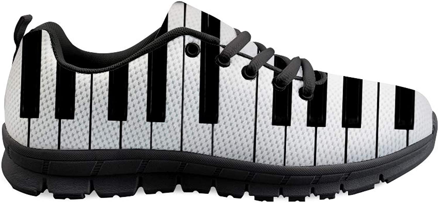 Owaheson Lace-up Sneaker Training shoes Mens Womens Piano Keys