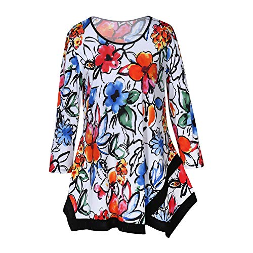cute loose floral tunic