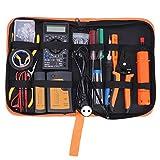 Kit de herramientas de reparación de red, 17 unids/set probador de cable de red profesional herramienta de mantenimiento de computadora pelado/alicates de crimpado Ki(European standard 220V)