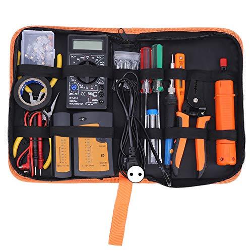 Hoseten Herramienta de Mantenimiento, Kit de alicates Pelacables/engarzadores, Herramientas de alicates de Red, para Pruebas de Redes de Mantenimiento de computadoras(Pink)