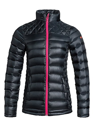 Roxy Ladies Light Up Waterproof Insulated Packable Ski Coat, Black
