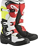 Alpinestars Men's Tech 3 Motocross Boot, Black/White/Yellow/Red, 5