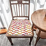 Cojín de asiento para silla, espuma viscoelástica, rayas onduladas y puntos, cojines de asiento para oficina, hogar o coche sentado