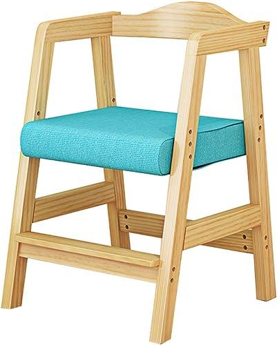 ch-AIR Stuhl für Kinder Esszimmerstühle Sessel Sitz, korrigierende Sitzhaltung Anti-Myopie Buckel h nverstellbar, aus Holz, für Zuhause Computertisch Arbeitszimmer, 2 Farben