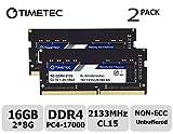Timetec Hynix IC 16GB DDR4 2133MHz PC4-17000 Unbuffered Non-ECC 1.2V CL15 1Rx8 Single Rank 260 Pin SODIMM Laptop / Notizbuch Arbeitsspeicher Module Upgrade (16GB(8GB x2)(Single Rank))