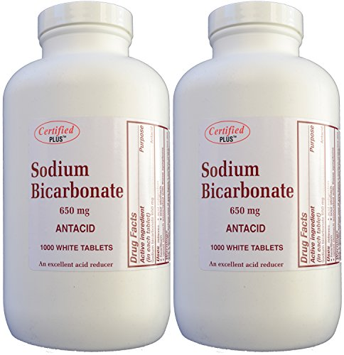 Sodium Bicarbonate Antiacid 650 mg Tablets for Relief of Acid Indigestion, Heartburn, Sour Stomach & Upset Stomach 1000 Tablets per Bottle Total 2000 Tablets by ADVANCE PHARMACEUTICAL