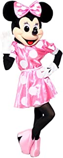 KF Pink Minnie Mouse Mascot Party Costume Adult Size Deluxe Outfit Halloween Cosplay