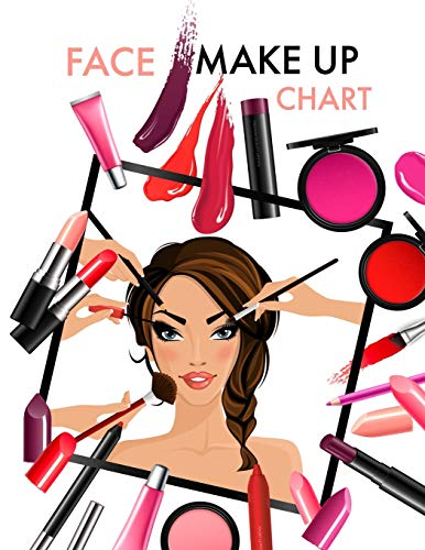 Face Make Up Chart: A Blank Workbook for Professional Makeup Artists
