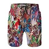 XCNGG Pantalones Cortos de Playa Men's Quick-Drying Surfing Beach Shorts Sports and Leisure Elastic Band Swim Short Pants