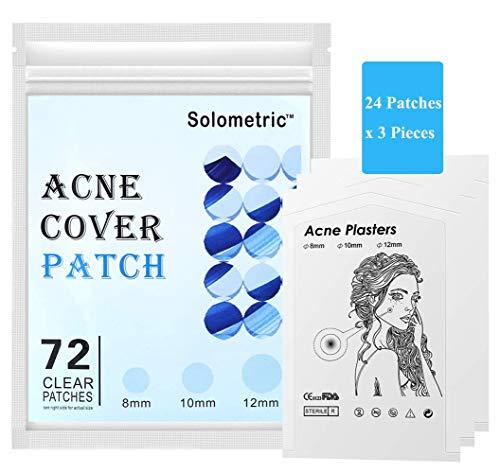 Pickel Pflaster 72 counts, Akne Patches - Unsichtbare Hydrokolloide Absorbierendes, Spot and Skin Tag treatment, Hautbehandlung, Gesichtsaufkleber, Wasserdicht, Fast & Effective