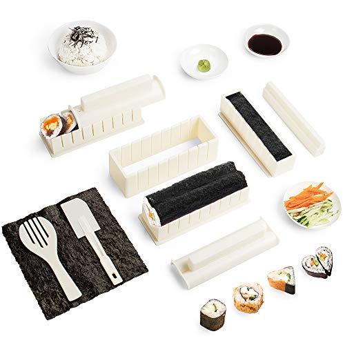 Virklyee Sushi Maker kit 10pcs 5 Formas únicas de Kit para Hacer Sushi Molde...