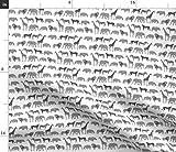 Spoonflower Stoff – Safari Quilt Koordinate Tiere Nashorn