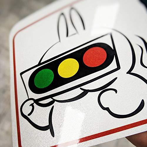 Beginner Praktijk auto Reflecterende Stickers Aangepaste Gepersonaliseerde Graffiti Grappige Magnetische Bumper Stickers