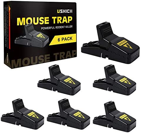 USKICH 6 Pack Mouse Trap Mice Trap That Work Human Power Mouse Killer Mouse Catcher Quick Effective product image