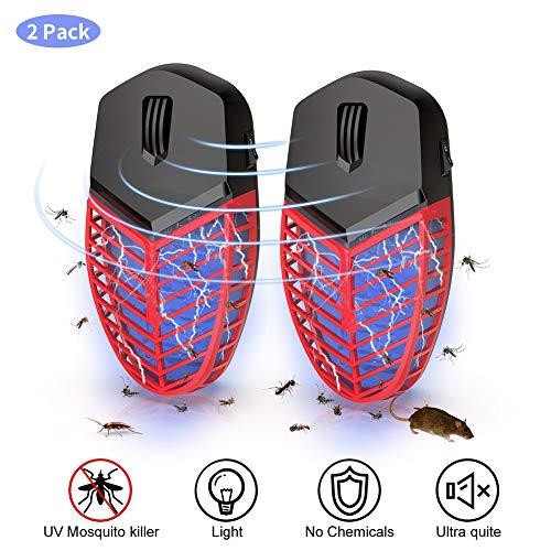 T-Raputa Lampe Anti Moustique, UV LED Pièges à Moustiques,Peut éliminer efficacement Les Souris, araignées, Fourmis, cafards, punaises de lit et Autres rongeurs (2Pack)