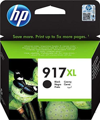 HP 917 XL 3YL85AE, Cartuccia Originale, ad Elevata Capacità, da 1.500 Pagine, Compatibili con Stampanti a Getto di Inchiostro HP Office jet Pro Serie 8010 e 8020, Nero
