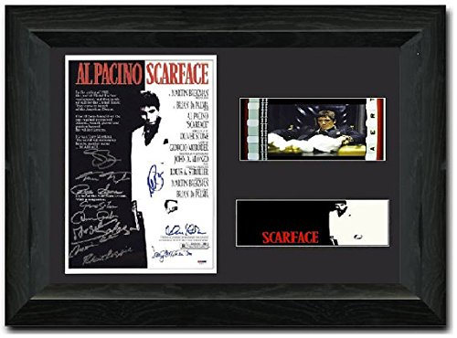 Scarface Signed Atemberaubende Kult Retro 35 mm Filmzelle, gerahmt Display