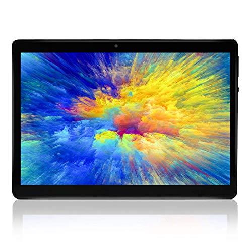 Tablet Android Schermo da 10  Quad core RAM 4 GB ROM 64 GB Fotocamera WIFI GPS Due slot per schede SIM Tablet Cellulare con 3G sbloccato (nero)
