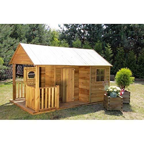 Spielhaus Kinderspielhaus Holz-Gartenhaus für Kinder Spielhütte aus Holz für Kinder - (3996)