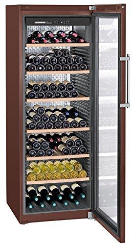 Liebherr WKt 5552 GrandCru - Enfriador de vino (Independiente, Acero inoxidable, 7 estanterías, 1 puerta(s), Acero, Madera)