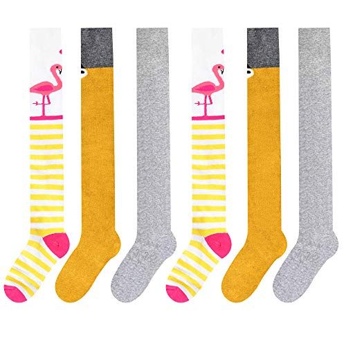 Libella 3er Pack Mädchen thermo Strumpfhose Flamingo Frottee Baby Kinder Baumwollmischung mehrfarbig 27247 110-116