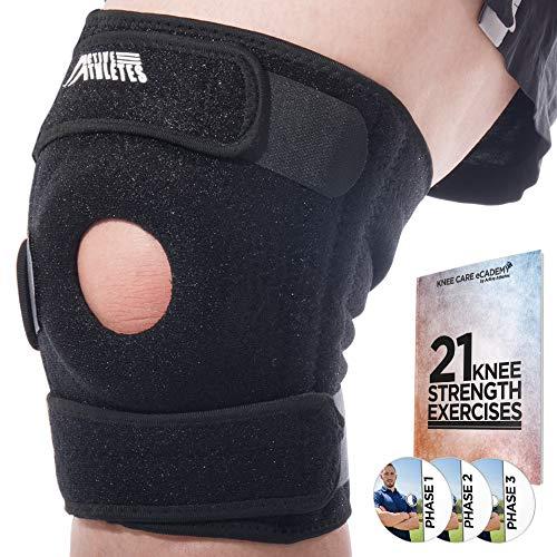 Rodillera Active: 50% Off the nuevas y mejoradas Best Open Patella aporta comodidad a para artritis, ACL y menisco diario: 60 días Garantía y E-Book - talla única