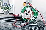 Brennenstuhl Garant G Bretec IP44 Gartenkabeltrommel (Kabeltrommel für Rasenmäher mit 48+2m Kabel in rot, Spezialkunststoff, kurzfristiger Einsatz im Außenbereich, Made in Germany)